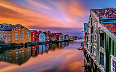 Colours Photograph - The Beautiful Trondheim by Aziz Nasuti