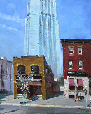 Street Store Painting - The Beauty N' The Background In London Canada by Ylli Haruni