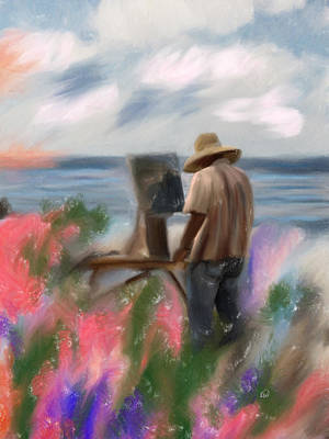 The Beauty Of A Painter Art Print by Angela A Stanton