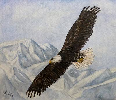 Eagle Painting - The Beauty Of A Soaring Eagle by Kelly Mills