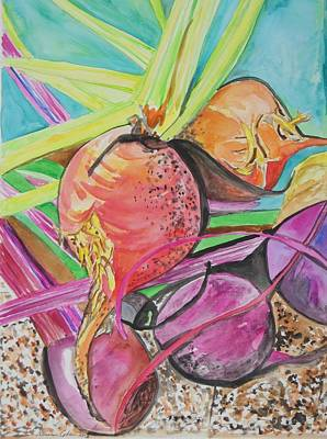 Painting - The Beauty Of Beets by Esther Newman-Cohen