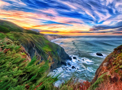 Painting - The Beauty Of Big Sur by Michael Pickett