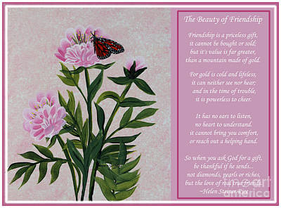 Barbara Griffin Art Painting - The Beauty Of Friendship by Barbara Griffin