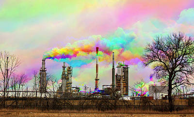 Photograph - The Beauty Of Pollution by Casey Becker