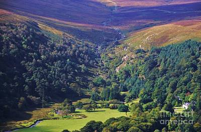 View From The Sally Gap, Ireland Art Print
