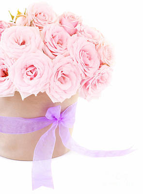 The Beauty Pink Roses Art Print by Boon Mee