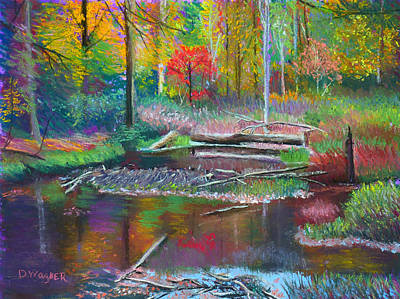 Pastel - The Beaver Dam by Denise Wagner