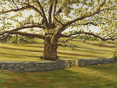 Painting - The Bedford Oak Summer by David  Llanos
