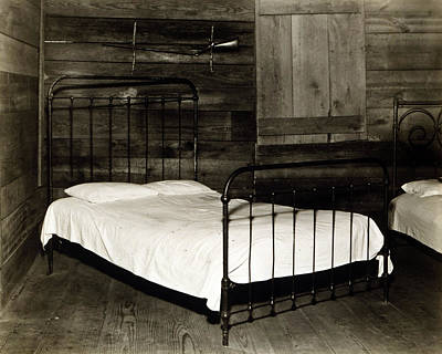 The Bedroom Of Floyd Burroughs, Cotton Art Print by Everett
