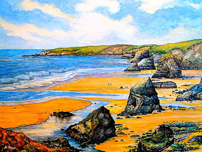 The Bedruthan Steps Cornwall Original by Andrew Read