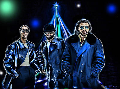 Disco Mixed Media - The Bee Gees by Tyler Robbins