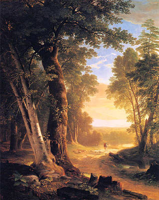 Painting - The Beeches by Asher Durand