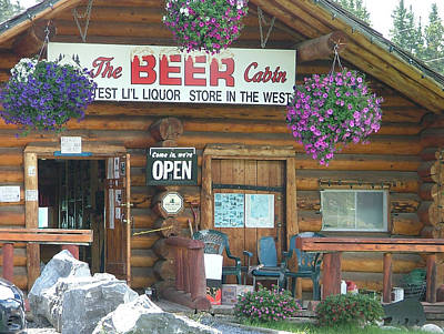 Photograph - The Beer Cabin by Phil Rispin