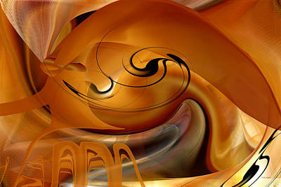 Digital Art - The Beginning Of Mollusk Abstract by rd Erickson