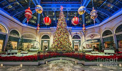 The Bellagio Christmas Tree Art Print by Aloha Art