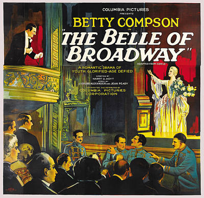 Flyers Digital Art - The Belle Of Broadway by Columbia Pictures