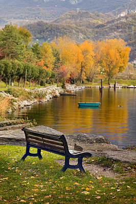Photograph - The Bench by Alfio Finocchiaro