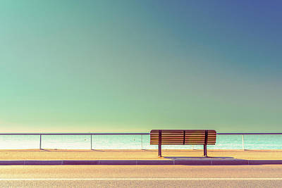 Pastel Colors Photograph - The Bench by Arnaud Bratkovic