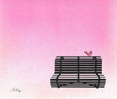The Bench Art Print by Daniele Zambardi