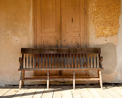 Photograph - The Bench by Kristia Adams