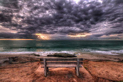 Photograph - The Bench - Lrg Print by Peter Tellone