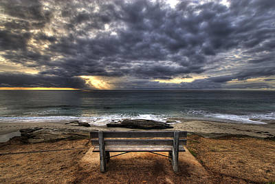 Hdr Photograph - The Bench by Peter Tellone