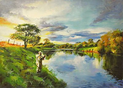 Ballina Painting - The Bend In The Moy by Conor McGuire
