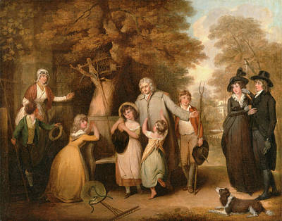 The Benevolent Heir Or The Tenant Restored To His Family Art Print