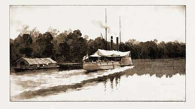 The Benin Punitive Expedition A River Scene On The Way Art Print by Litz Collection