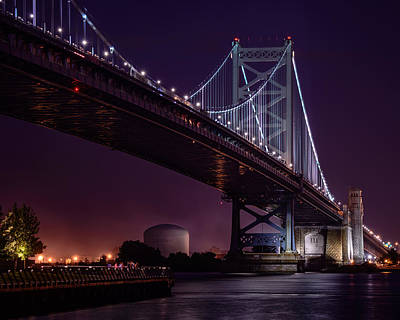 Photograph - The Benjamin Franklin Bridge by Linda Karlin