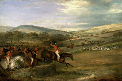 Crying Painting - The Berkeley Hunt, 1842 Full Cry Signed And Dated by Litz Collection
