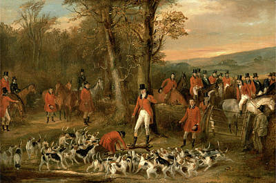 Berkeley Painting - The Berkeley Hunt, 1842 The Death Signed And Dated by Litz Collection