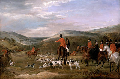 Berkeley Painting - The Berkeley Hunt, 1842 The Meet Signed And Dated by Litz Collection