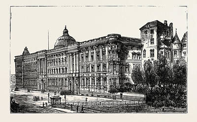 Berlin Drawing - The Berlin Congress by German School