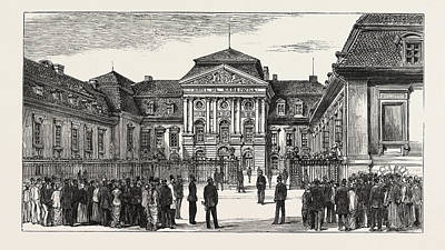 The Berlin Congress  The Rauziwill Palace Art Print by German School