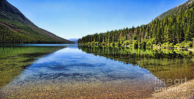 The Best Beach In Glacier National Park Panorama 2 Art Print by Scotts Scapes