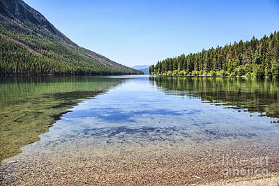 The Best Beach In Glacier National Park Art Print by Scotts Scapes