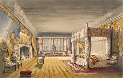 Cornish Wall Art - Drawing - The Best Bedroom, Cotehele House by English School