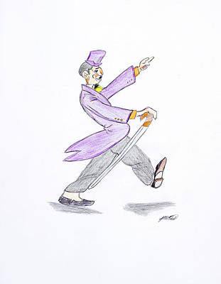 Art Print featuring the drawing The Best Man by Artists With Autism Inc