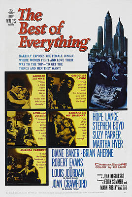 The Best Of Everything, Us Poster Art Art Print by Everett