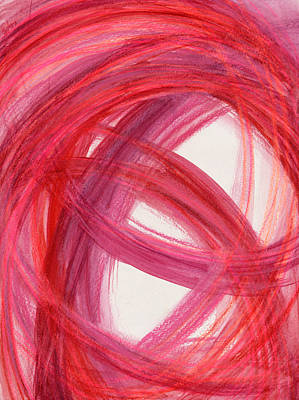 Abstract Movement Drawing - The Best Way Out-2 by Kelly K H B