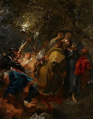 Soldier Painting - The Betrayal Of Christ by Anthony Van Dyck