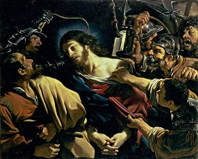 Judas Painting - The Betrayal Of Christ, C.1621 by Guercino