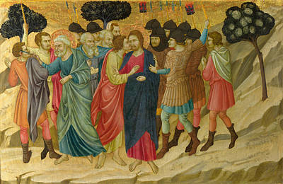 Painting - The Betrayal Of Christ by Ugolino di Nerio