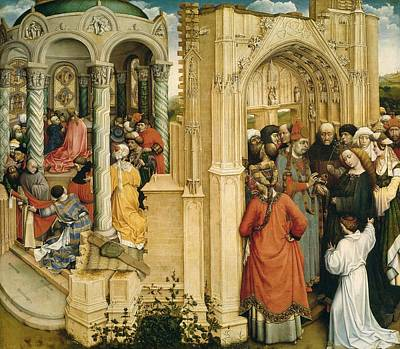 1420 Painting - The Betrothal Of The Virgin by Robert Campin