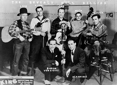 Photograph - The Beverly Hill Billies Band by Underwood Archives