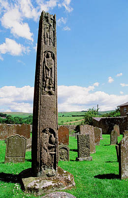 Grave Photograph - The Bewcastle Cross by Ashley Cooper