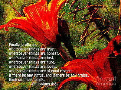 The Bible Philippians 4 Art Print
