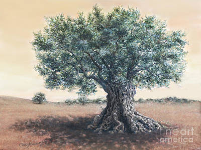 Painting - The Biblical Olive Tree by Miki Karni