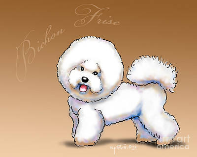 Mixed Media - The Bichon Frise by Catia Cho